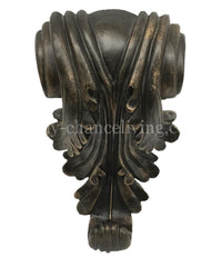 Decorative Drapery Pole Bracket Acanthus