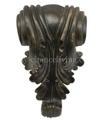 Decorative Drapery Pole Bracket Acanthus Hardware