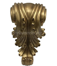 Decorative Drapery Pole Bracket with Swarovski Crystals Acanthus