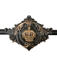 Drapery Rod Enhancer Medallion with Jeweled Crown
