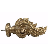 Drapery Rod Finial Acanthus Jeweled