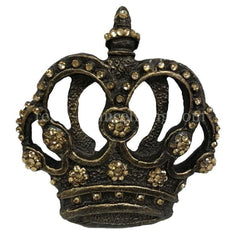 Jeweled Scroll Crown Drapery Medallion / Tassel Tie Back Holder Hardware