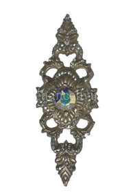 Jeweled Drapery Medallion / Tassel Tie Back Holder 'Gio