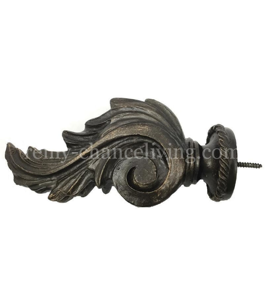 Drapery_rod_finial-acanthus-wood_pole_finial-reilly_chance_collection