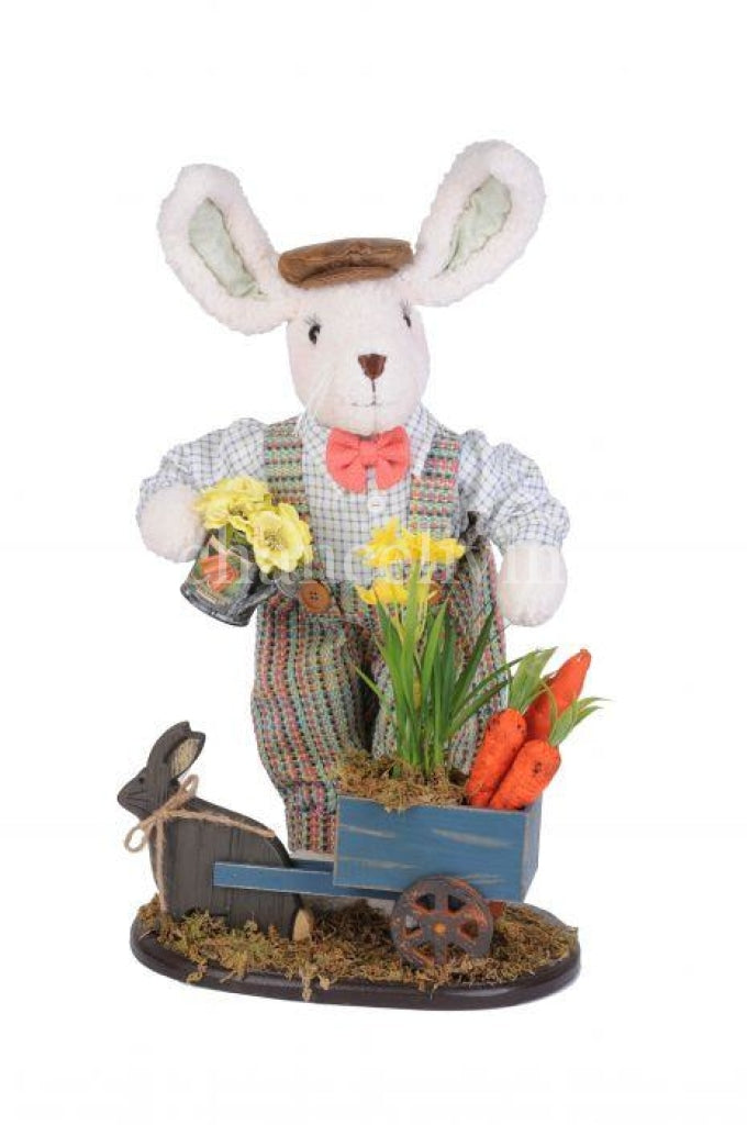 Bunny with Cart and Watering Can