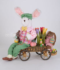 Bunny with Flower Cart