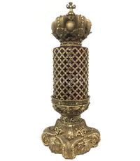 Decorative Candle 4x6 Jeweled Mesh 4x6 Jeweled Candle Base with Crown Topper