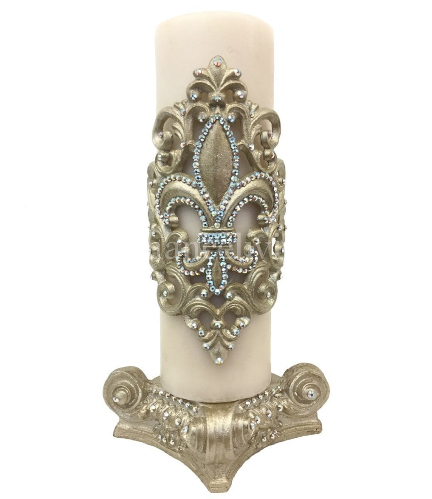 Fancy_candles-triple_scented_candles-swarovski_jeweled_candles-fleur_de_lis-jeweled_candle_base-candle_bling-sir_olivers_by_reilly_chance_collection