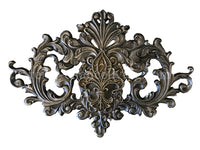 Large Fleur de Lis Carved Wall Plaque