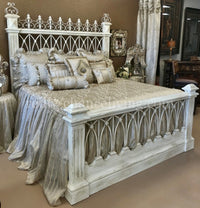 Florence Peruvian Hand Crafted Wood and Wrought Iron King Size Bed FREE SHIPPING