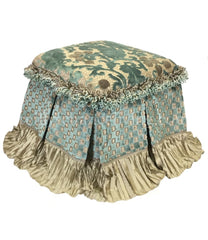 Foot_stool-blue_taupe_chenille-taupe_silk-fringe-reilly_chance_collection