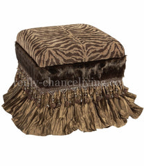 Foot_stool-tiger_chenille-brown-tan-silk-reilly_chance_collection