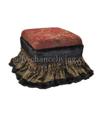 Foot_stool-red-chocolate_brown-chenille-velvet-reilly_chance_collection