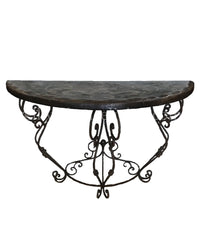 Peruvian Home Furnishings Granada Iron Hand painted Wood Console Table FREE SHIPPING