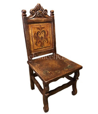 Peruvian Hand Painted Wood Dining Chair as Shown FREE SHIPPING