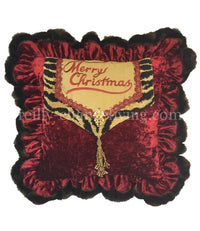 Merry Christmas Pillow with Tiger Ruffled (17x17 (not incl. ruffle)