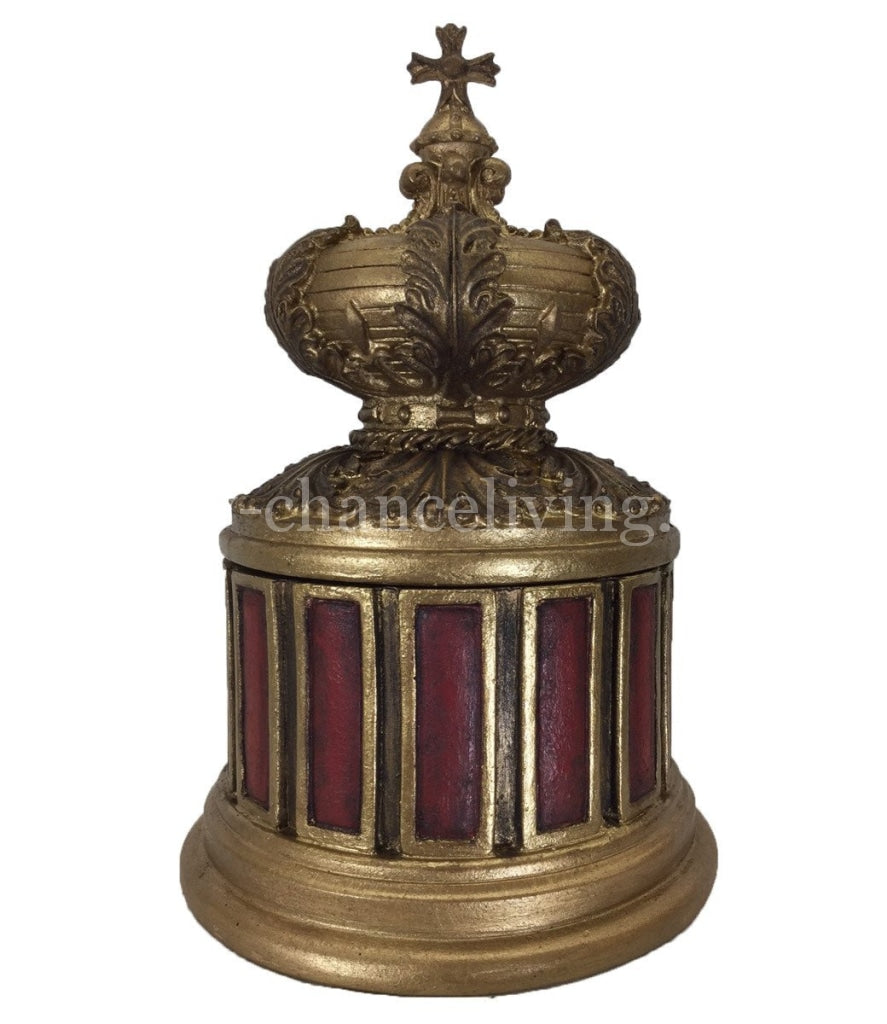 Decorative Round Box With Lid 10X 6 Home Decor