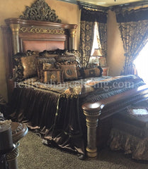 Old_world_bedding-chocolate_brown_bedding-damask-faux_mink-velvet_bedding-decorative_pillows-reilly_chance_collection