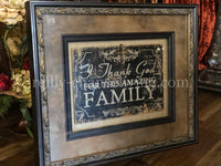 Visser Jeweled Framed Art Family