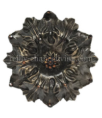 Jeweled Drapery Medallion / Tassel Tie Back Holder Acanthus