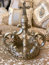 Large Jeweled Crown Sculpture Scroll