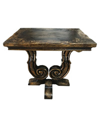 Peruvian Home Furnishings Lucca Hand Painted Wood Side Table FREE SHIPPING