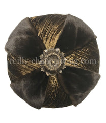 Luxury_Accent_pillow-high_end_accent_pillow-decorative-round_pillow-ruffled_pillow_with_jewels-old_world_decor-beautiful_pillows-reilly_chance