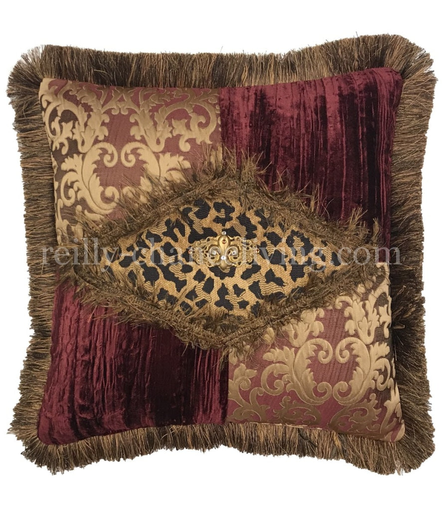 Luxury_Accent_pillow-high_end_accent_pillow-decorative_throw_pillows-burgundy_and_gold_pillows-sofa_pillows-old_world_decor-beautiful_pillows-leopard_pillow-reilly_chance