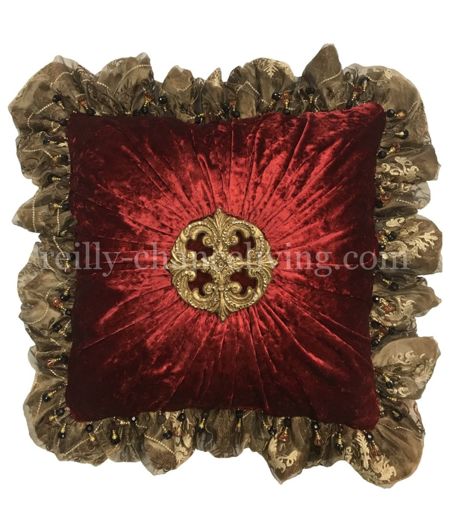 Luxury_Accent_pillow-high_end_accent_pillow-decorative_throw_pillows-red_velvet_pillows-ruffled_pillow_with_jewels-old_world_decor-beautiful_pillows-leopard_pillow-reilly_chance_