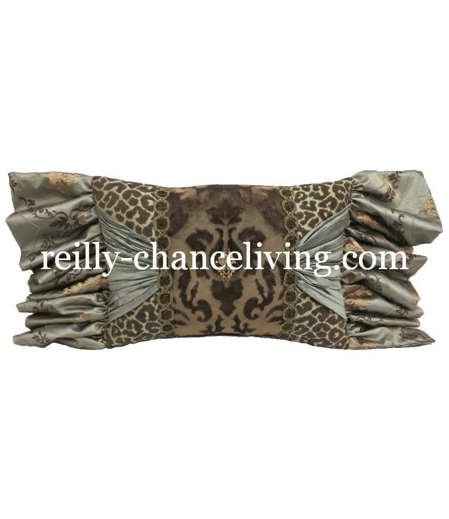 Decorative Pillow Rectangle With Leopard Print