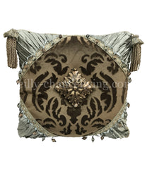 Luxury_Accent_pillow-high_end_pillow-decorative_throw_pillows-spa_green_pillows-pillow_with_jewels-old_world_decor-reilly_chance