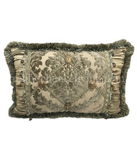 Luxury Decorative Rectangle Pillow with Jewels