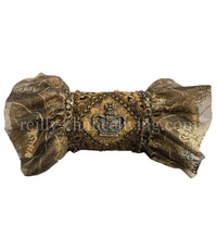 Luxury Designer Bolster Pillow with Jeweled Crown