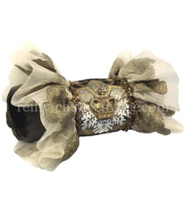 Luxury Designer Pillow Bolster With Jeweled Crown 19X8