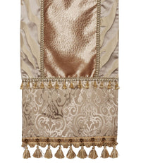Champagne And Grey Animal Damask Table Runner