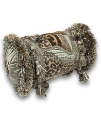 Luxury_accent_pillow-bolster-leopard-spa_green-chocolate_brown-beads-embellished-reilly_chance_collection