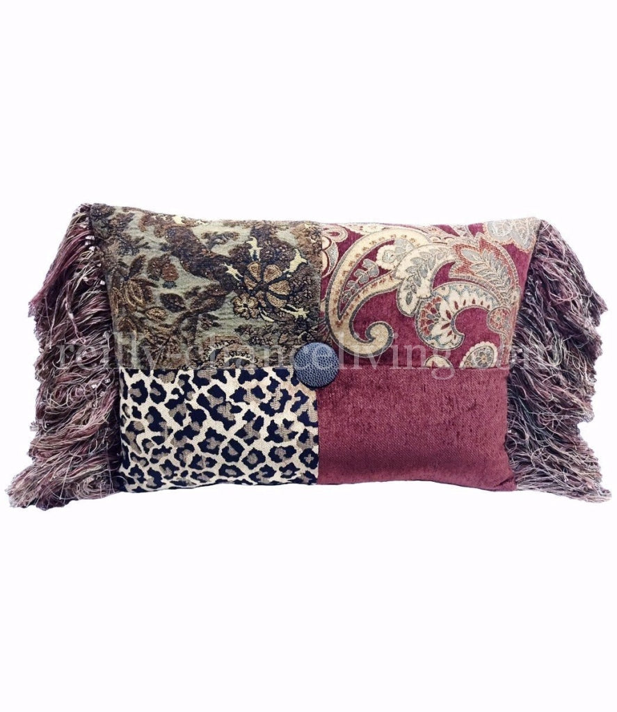 Luxury_accent_pillow-recatngle-rust-gold-green-chenille-fringe-reilly_chance_collection_grande