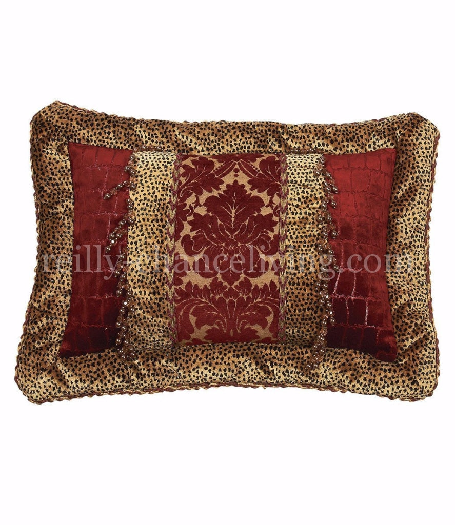 Luxury_accent_pillow-rectangle-velvet_cheetah-red_croc-beads-reilly_chance_collection