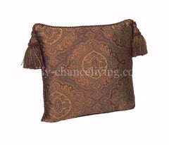 Luxury_accent_pillow-square-bronze_faux_silk-corded-tassels-reilly_chance_collection