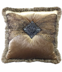 Luxury_accent_pillow-square-gold_velvet-brown_organza-embellished-reilly_chance_collection