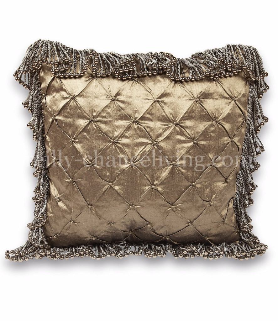 Luxury_accent_pillow-square-bronze_silk-bullion-bead_fringe-reilly_chance_collection