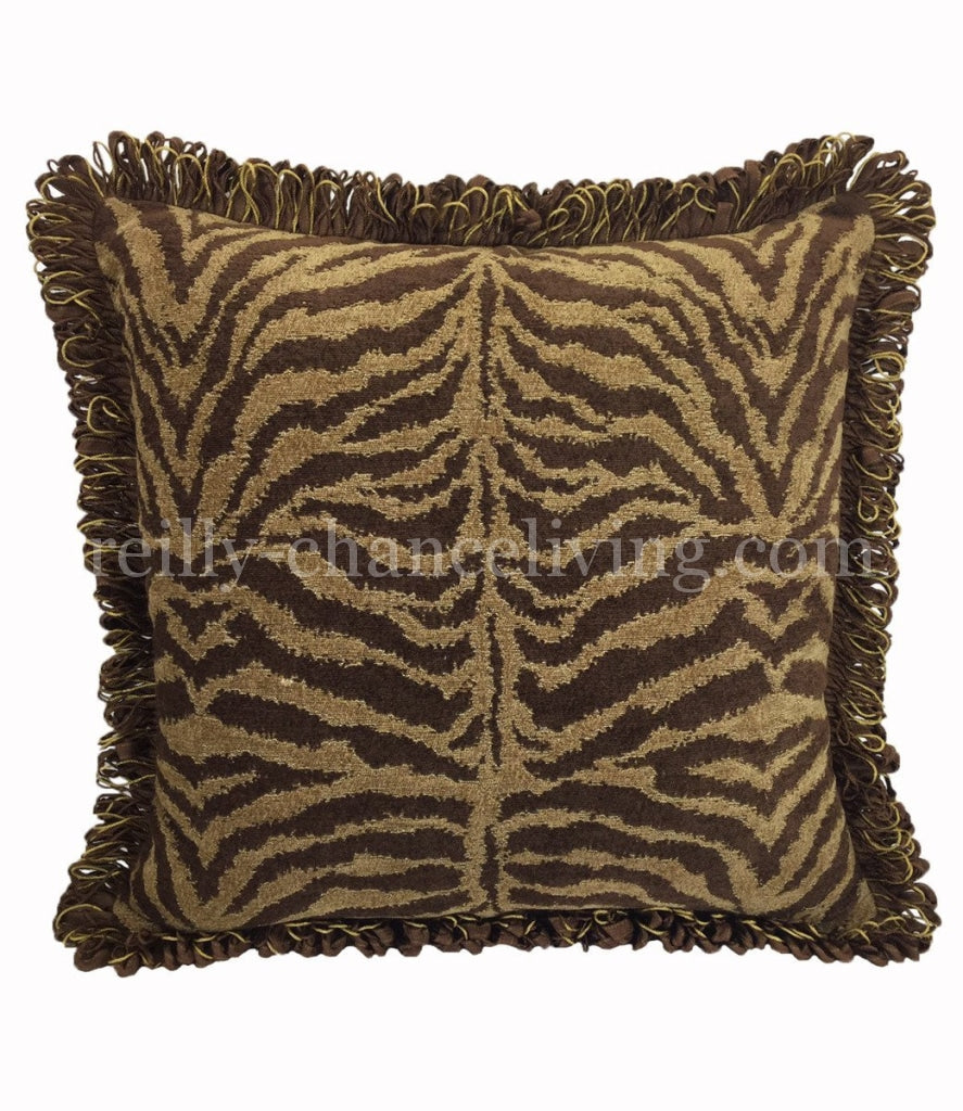 Luxury_accent_pillow-square-sofa_pillow-brown_tiger_chenille-reilly_chance_collection