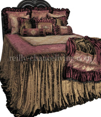 Luxury_bedding-Old_world_bedding-bronze_velvet-raspberry_chenille-oversized_bedding-bedding_ensemble-jeweled_pillows-reilly_chance_collection_grande
