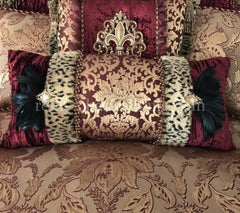 Luxury_bedding-burgundy-gold-damask-velvet-old_world_bedding-feathers-designer_bedding-decorative_pillows-reilly_chance_collection_grande