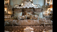 Old_world_bedding-chocolate_velvet-spa_green_silk-leopard_print-bed_sets-over_sized_bedding-fancy_pillows-reilly_chance_collection