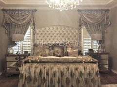 Designer Curtain With Swag And Jabots Up To Approx. 50 Installed Width Window Treatment