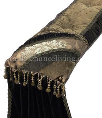 Luxury_bed_pillow-chocolate_brown-velvet-gold-beads-reilly_chance_collection