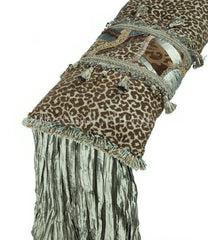 Luxury_bed_pillow-leopard_print-green-brown-silk-tassel_fringe-reilly_chance_collection