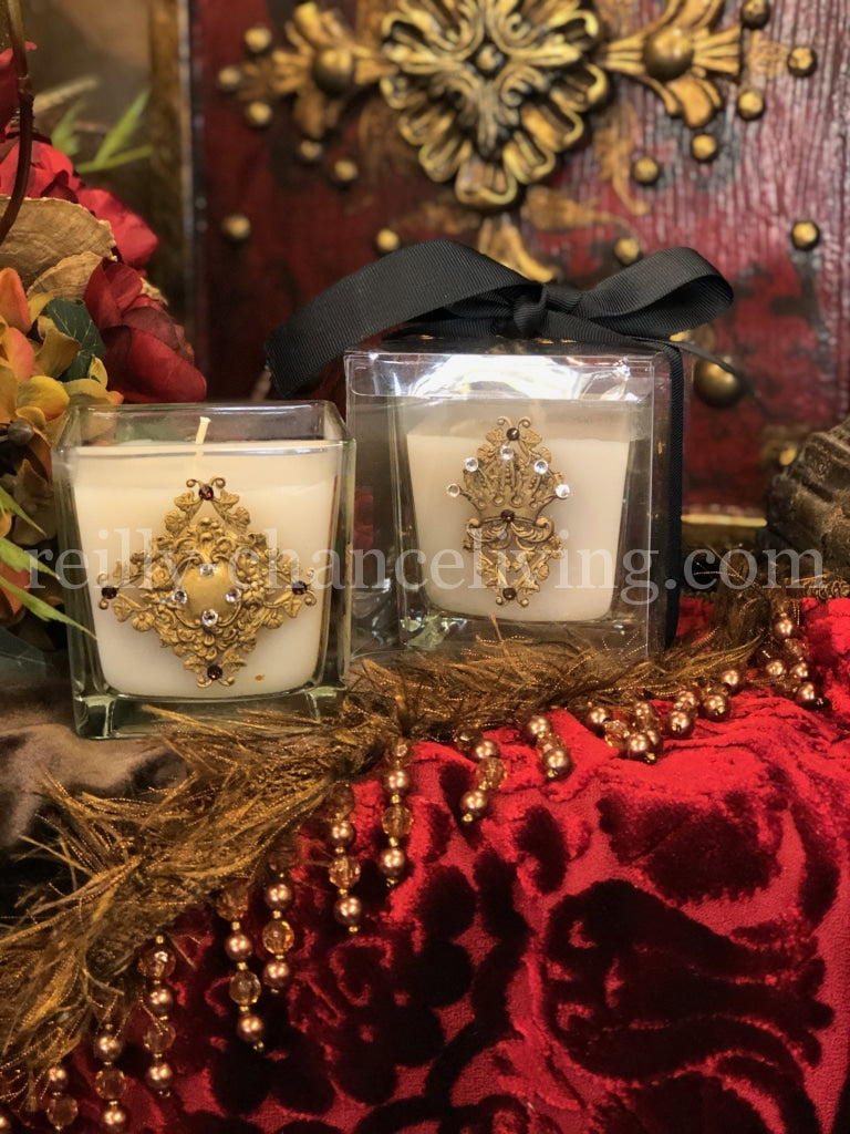Decorative Glass Jar Candle Creme Brulee Candles