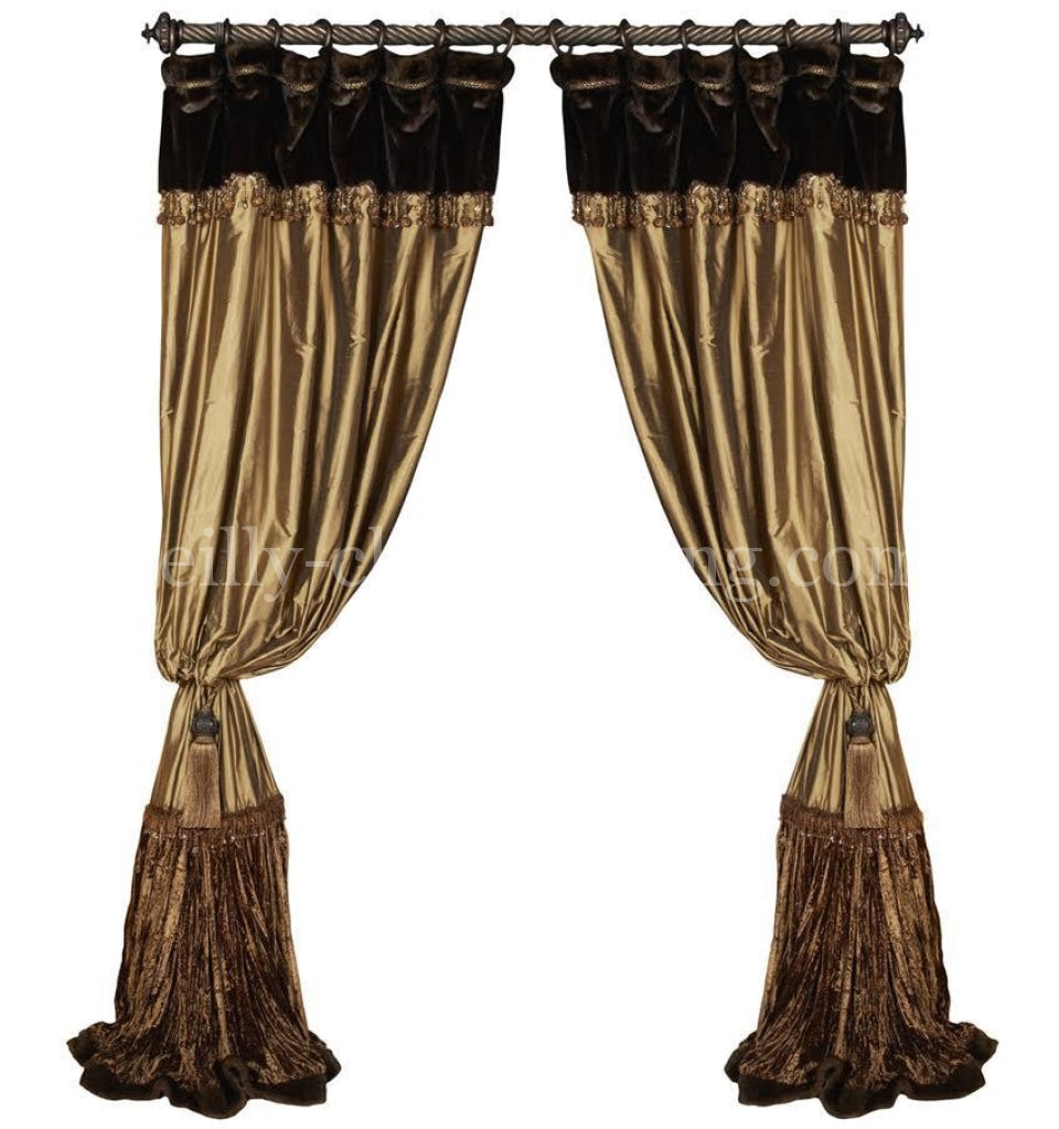 Luxury_curtains-window_treatment-bronze_silk-faux_mink-beads-brown_velvet-reilly_chance_collection